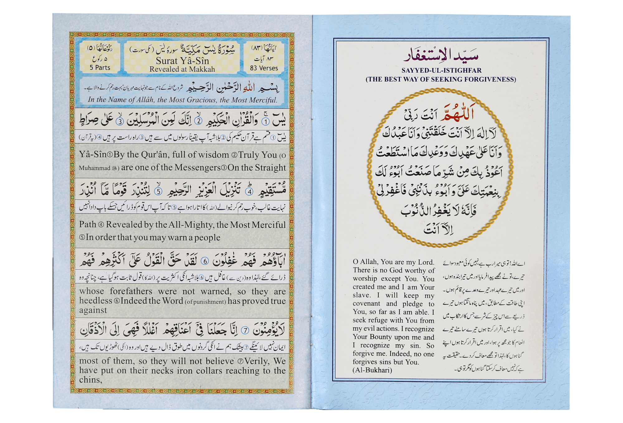 surah Yaseen (urdu and english) | Darussalam Pakistan